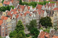 Gdansk old city in Poland. Poland, View on the old city in Gdansk is located at the Baltic sea Stock Image