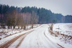 poland vinter Royaltyfri Fotografi