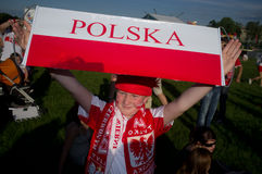 Poland vs Greece match at euro 2012 Stock Image