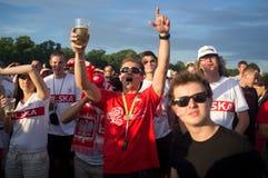 Poland vs Greece match at euro 2012 Royalty Free Stock Photos