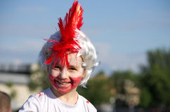 Poland vs Greece match at euro 2012 Royalty Free Stock Images