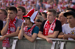 Poland vs Greece match at euro 2012 Royalty Free Stock Photo