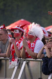 Poland vs Greece match at euro 2012 Stock Photos