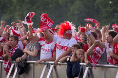 Poland vs Greece match at euro 2012 Royalty Free Stock Photos