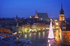 Poland: Warsaw castle square Stock Photo