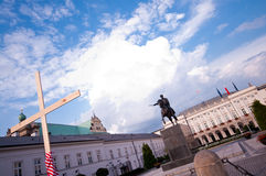 Poland, Warsaw, cross Stock Photography