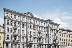 Poland warsaw flatiron building white facade classic culture design Royalty Free Stock Photography