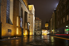 Poland: Warsaw by night Royalty Free Stock Photos