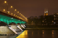Poland: Warsaw by night Stock Images