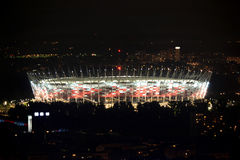 Poland, Warsaw by night, National Stadion. Royalty Free Stock Photo