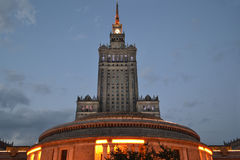 Poland, Warsaw, Palace of culture and science. Royalty Free Stock Image