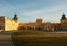 Poland-Warsaw, Wilanow, December 2015.View on the Royal Palace i Royalty Free Stock Photography