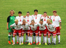 Poland women. The polish deaf football team in the world cup match vs great britain played at eboli in italy royalty free stock image