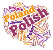 Poland word cloud Royalty Free Stock Images