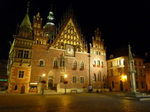 Poland Wroclaw town hall. Royalty Free Stock Images