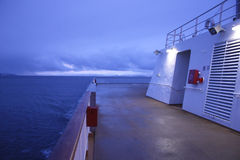 Polar afterdeck. Afterdeck of a norwegian cruise ship crosssing the arctic circle royalty free stock photography
