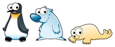 Polar animals royalty free illustration