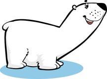 Polar Bear. Smiley Polar bear standing on an ice Vector Illustration