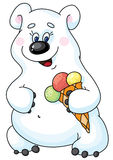 Polar bear. An illustration of a bear and ace-cream Stock Image