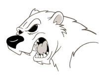 Polar Bear. Hand drawn,computer enhanced tattoo style polar bear growling Royalty Free Stock Photography