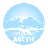 Polar bear against ices a symbol of the Arctic Stock Images