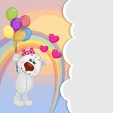 Polar Bear with balloons Royalty Free Stock Photography