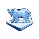 Polar Bear On The Block Of Ice Royalty Free Stock Photo