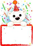 Polar Bear Cub Birthday vector illustration