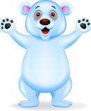 Polar bear cartoon Royalty Free Stock Photo