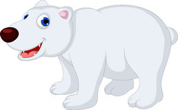 Polar bear cartoon Royalty Free Stock Photos