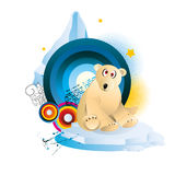 Polar bear cartoon illustration vector Royalty Free Stock Photography