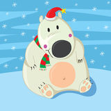 Polar Bear Christmas Royalty Free Stock Photo