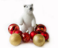 Polar bear. Christmas decoration on a white background Royalty Free Stock Photography