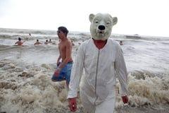 Polar Bear costume, Belgium Royalty Free Stock Photo