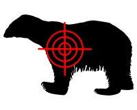 Polar bear crosshair. Detailed and colorful illustration of polar bear crosshair Royalty Free Stock Photography