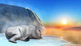 Polar bear - 3D render Royalty Free Stock Photography