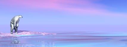 Polar bear - 3D render Stock Image