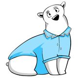 Polar bear in doctor's smock Royalty Free Stock Image