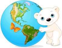 Polar Bear Earth Day Royalty Free Stock Image