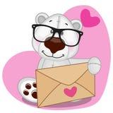Polar Bear with envelope Royalty Free Stock Photo