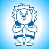 Polar bear Eskimo sign Stock Image
