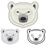 Polar Bear Faces. Illustration of polar bear faces in color, grayscale and black and white Royalty Free Stock Photos