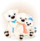 Polar bear family Stock Illustration