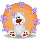 Polar Bear with flowers Royalty Free Stock Photography
