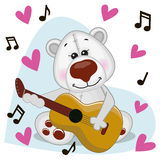 Polar Bear with guitar Royalty Free Stock Photography