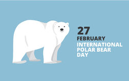 Polar bear hand drawn illustration, flat style Royalty Free Stock Images