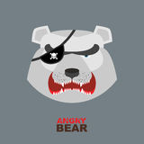 Polar Bear head. Angry bear logo  Hockey emblem Stock Photography