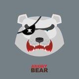 Polar Bear head. Angry bear logo  Hockey emblem Stock Photography