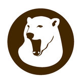 Polar bear head vector illustration  Flat Royalty Free Stock Images