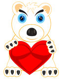 Polar bear with heart Royalty Free Stock Images